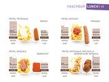 Voorbeeldpagina 'Snackbar'